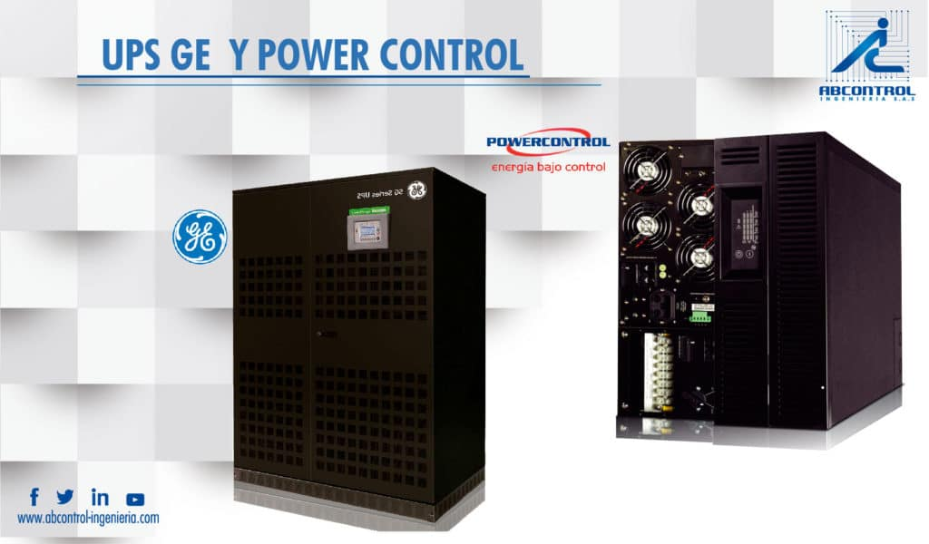 nuestros equipos marcas General Electric, ABB  y  Power Control